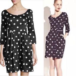 Betsey Johnson Black and White Polka Dot Dress